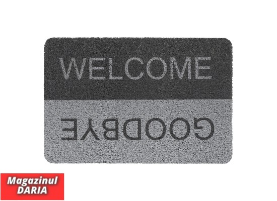 Covoraș intrare WELCOME GOODBYE print curly