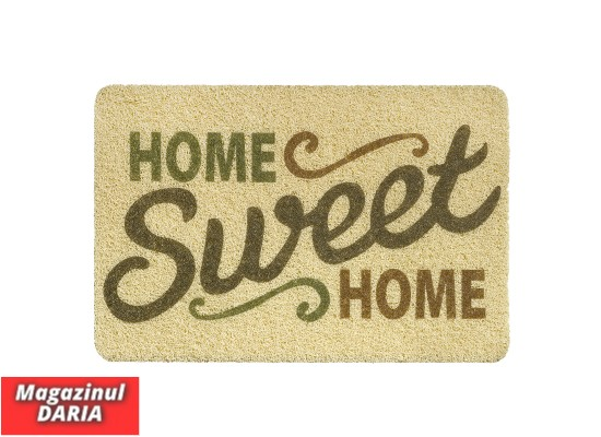 Covoraș intrare Sweet home print curly