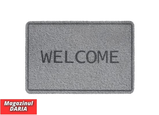 Covoraș intrare WELCOME print curly