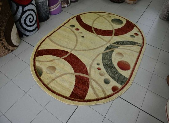 Covor Blue Stones 4651 BEIGE OVAL